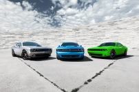 From Left to Right: 2015 Dodge Challenger 392 HEMI® Scat Pack S