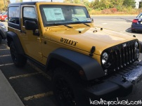 2015 Baja Yellow Jeep Wrangler JK Willy's Edition