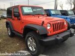 Sunset Orange Jeep Wrangler JK