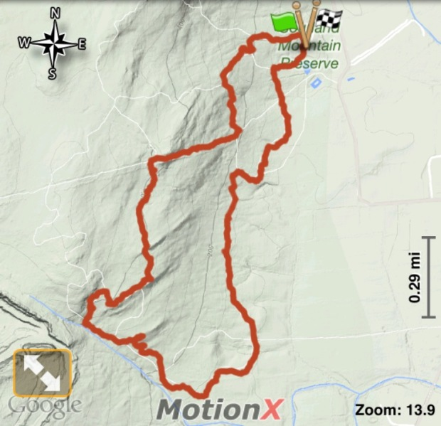 Sourland Mountain Hike Track 05282016