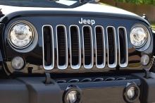 2017 Jeep Wrangler LED headlamps.