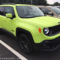 Hyper Green Jeep Renegade spotted