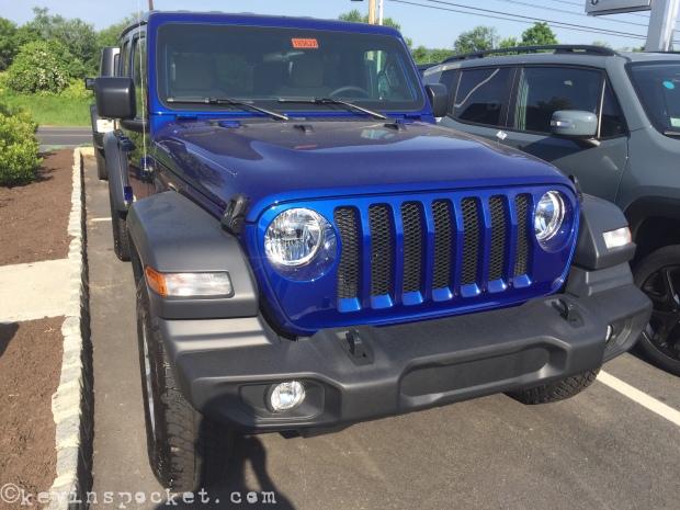 Ocean Blue Jl Wrangler Sport Unlimited Spotted Kevinspocket